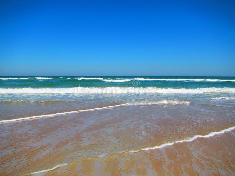 Waves rolling in Daytona Beach, Florida stock image