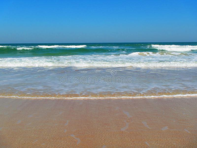 Waves rolling in Daytona Beach, Florida royalty free stock images