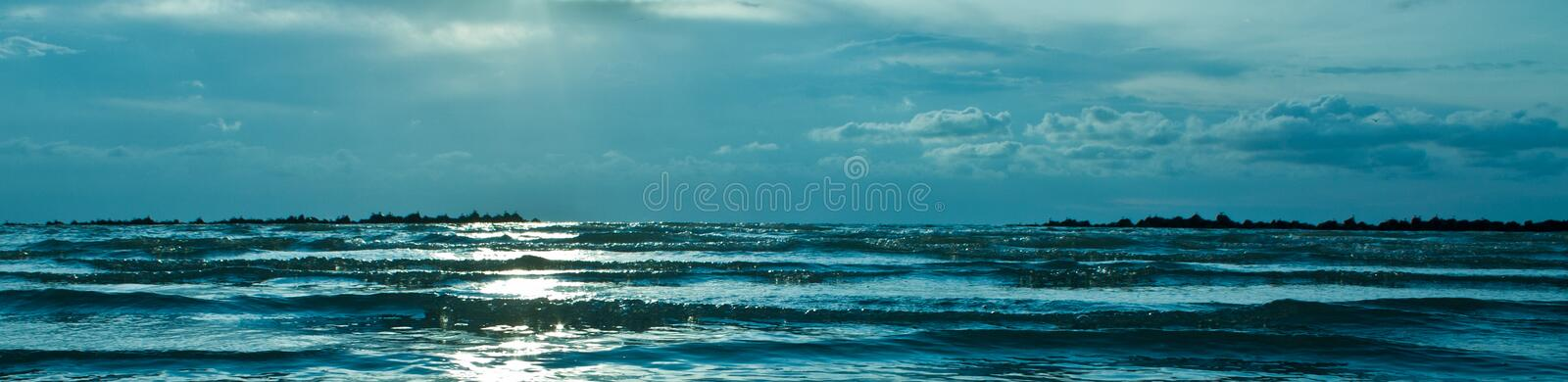 Waves in the sea stock photos