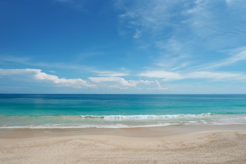 Waves sea. And blue sky royalty free stock image
