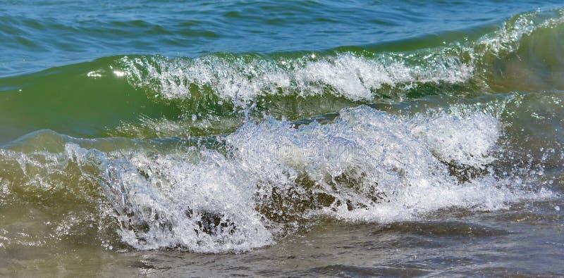Seascape. Waves show. Detail. Summer, sea, sun, beach, holiday, fun - Black Sea, landmark attraction in Romania stock images