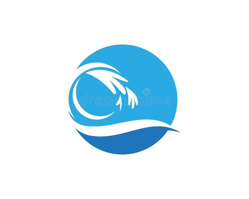 Waves of sea or ocean waves,blue water, splash vector illustration.  stock illustration