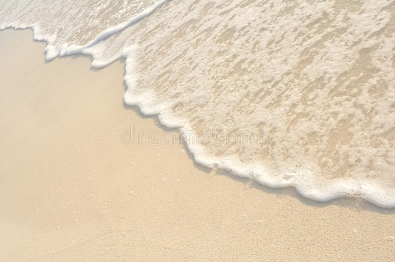Waves on Shore of White Sand Beach royalty free stock image