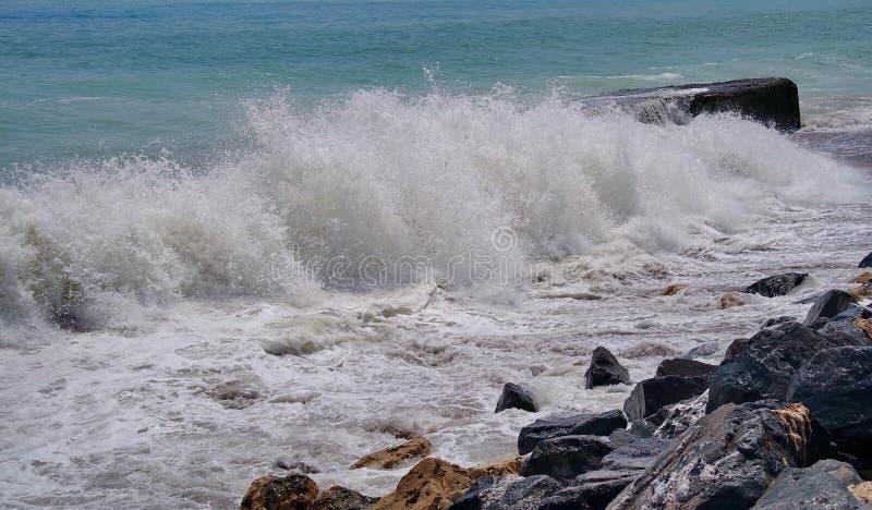 Seascape. The Black Sea. Waves show - Romania royalty free stock image