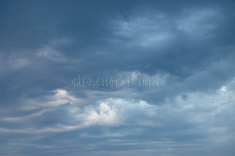 Waves in the sky stock photo