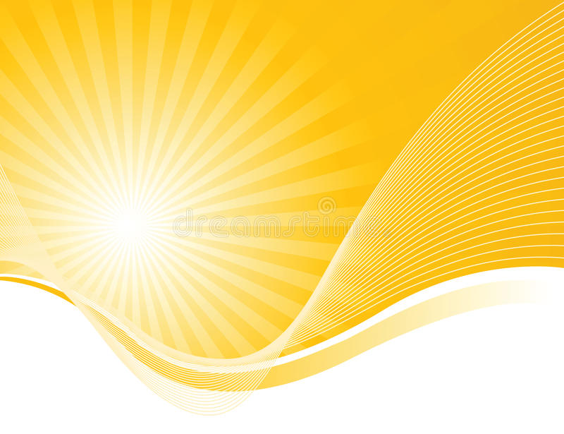 Waves and solar beams royalty free illustration