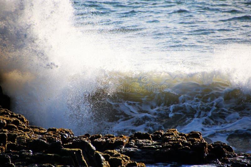 Download Waves Splashing On Basalt Rocks Stock Photo - Image: 25922500