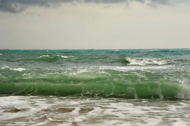 Download Waves Before Storm On The Sea Stock Image - Image: 23626263