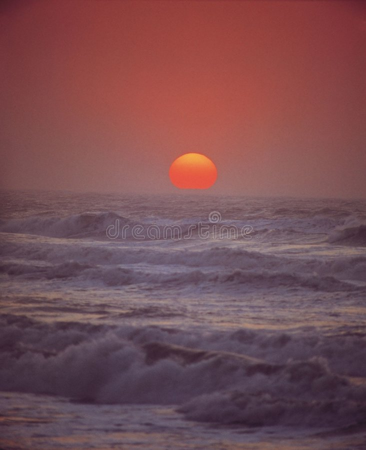 Waves and Sun stock photography