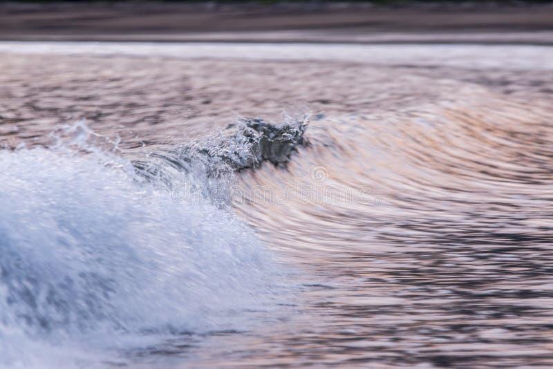 Waves and sunset, playa tambor Costa Rica royalty free stock image