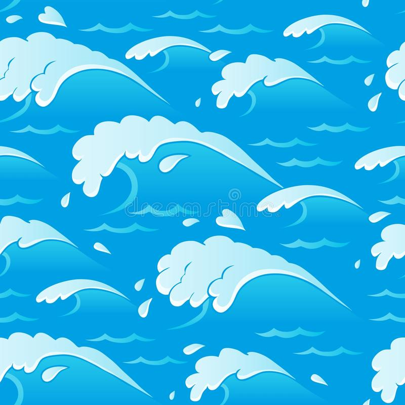 Waves Theme Seamless Background 1 Stock Image