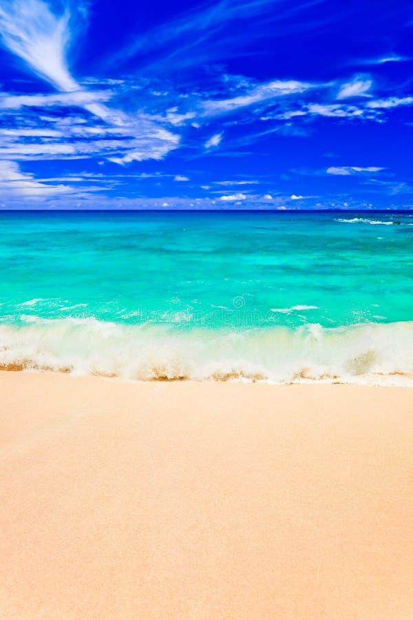 Waves On Tropical Beach Stock Photo