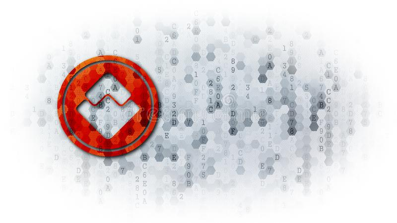 Waves - Web Icon on Dark Digital Background. royalty free illustration