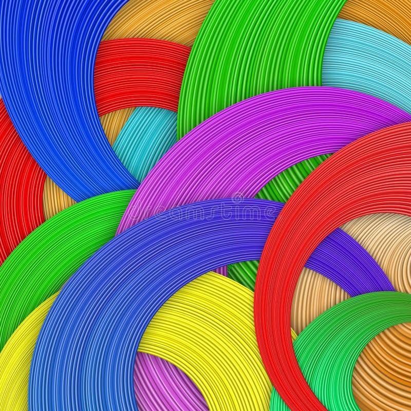 Wavew de couleur illustration stock