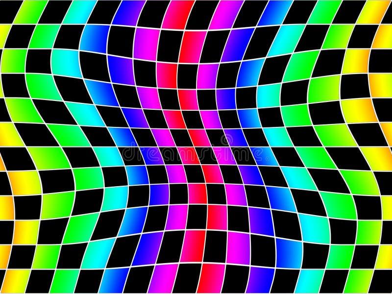 Wavey Regenbogen quadriert Hintergrund vektor abbildung