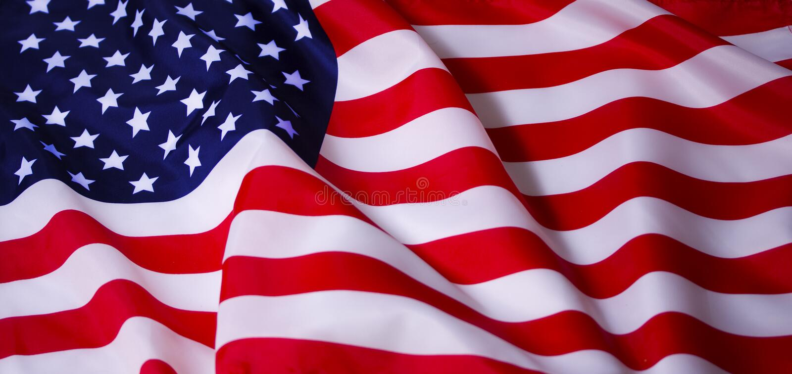 Waving American flag royalty free stock image