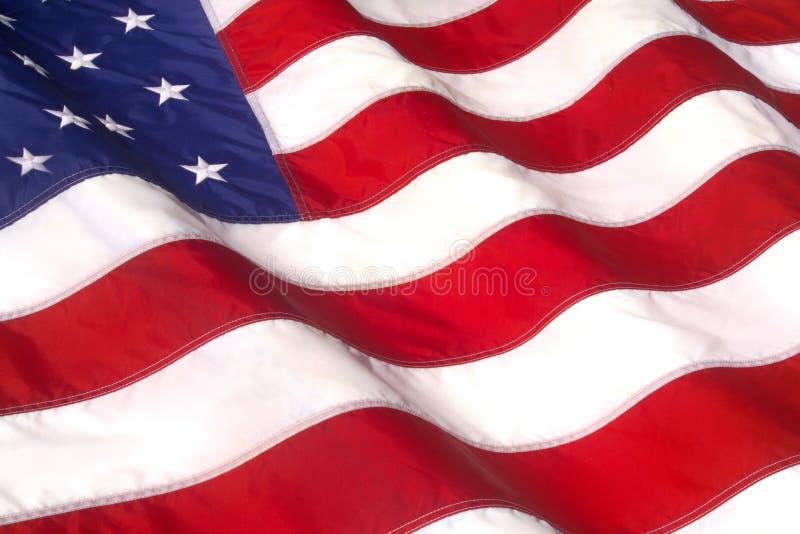 WAVING AMERICAN FLAG. Iconic Symbol of Patriotism Closeup royalty free stock image