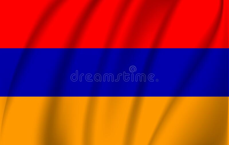 Waving Armenia flag . royalty free illustration