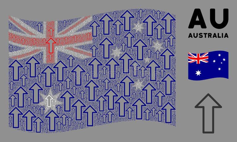 Waving Australia Flag Composition of Arrow Icons royalty illustrazione gratis