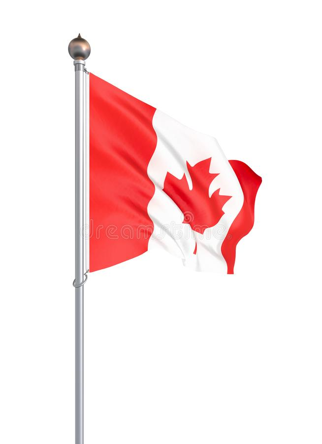 Waving Canada flag. 3d illustration for your design. – Illustration. White stock illustration