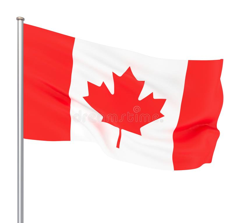 Waving Canada flag. 3d illustration for your design. – Illustration. Image stock illustration
