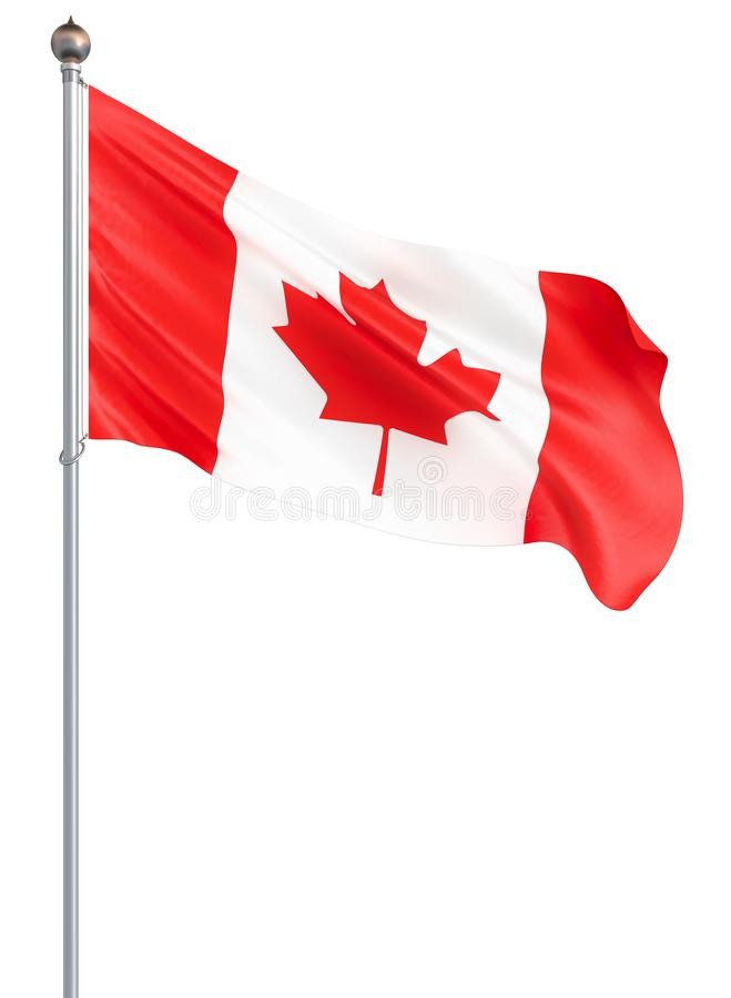 Waving Canada flag. 3d illustration for your design. – Illustration.  stock illustration