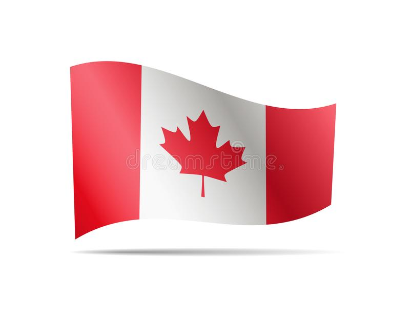 Waving Canada flag in the wind. stock illustration