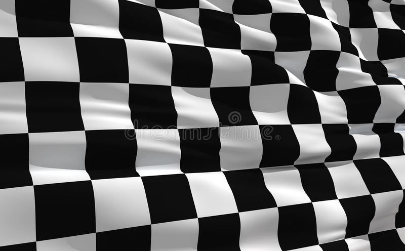 Waving Checkered Flag Royalty Free Stock Photography