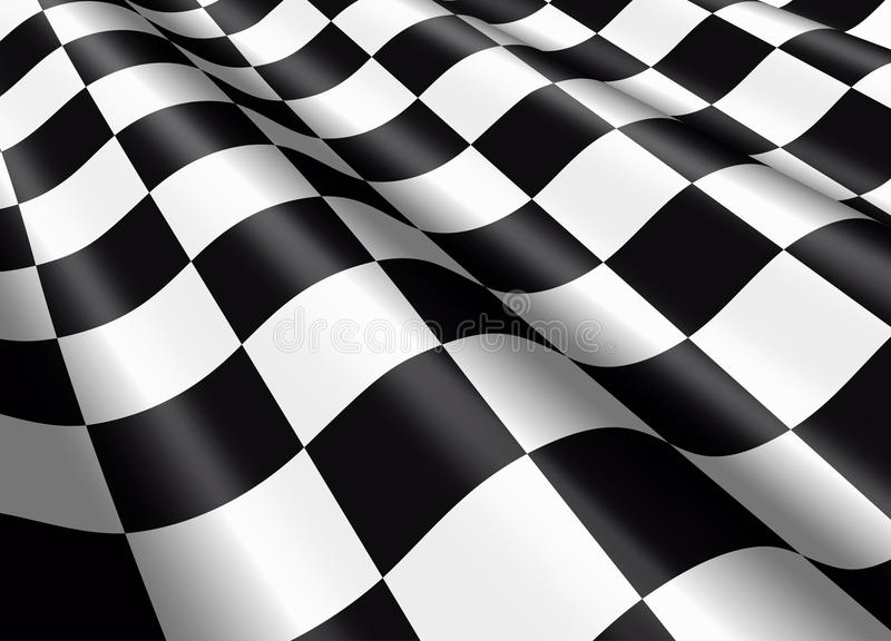 Waving chequered flag vector illustration