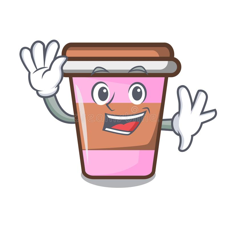 Free Waving Coffee Cup Character Cartoon Royalty Free Stock Image - 120523296