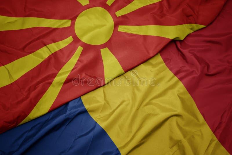 North Macedonia Small Hand Waving Flag