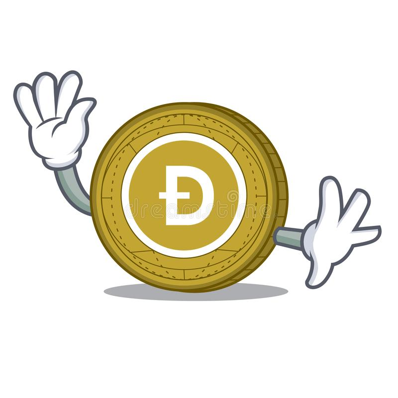 With Box Dogecoin Character Cartoon Style Stock Vector ...