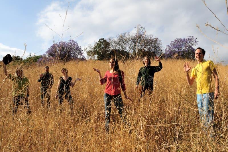Waving in field