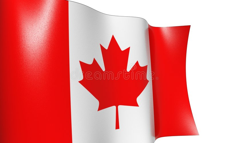 Waving flag Canada. Canada flag royalty free illustration