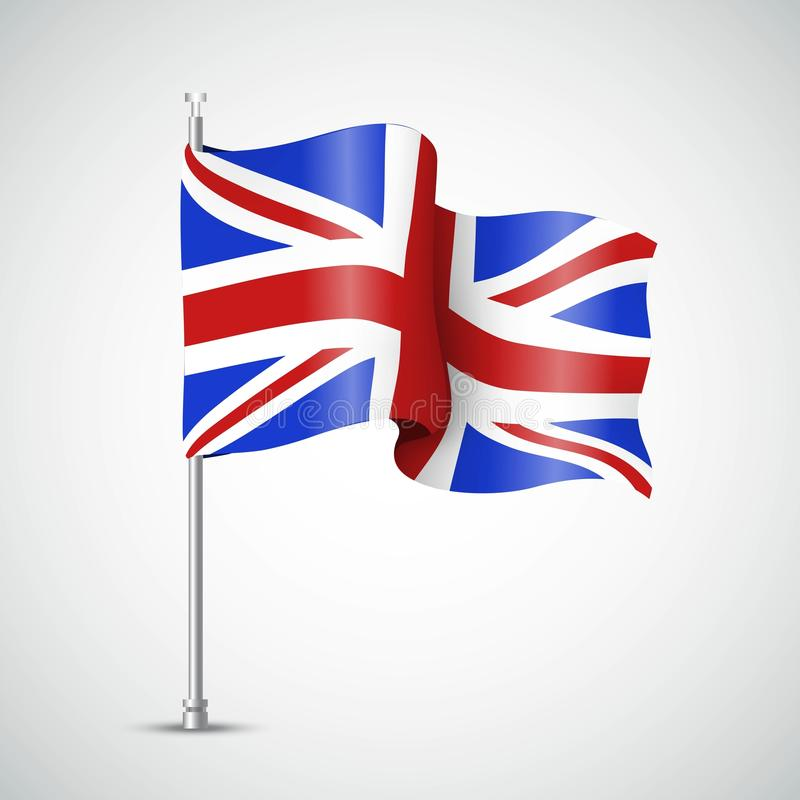 Waving Flag of the Great Britain. Vector illustration vector illustration