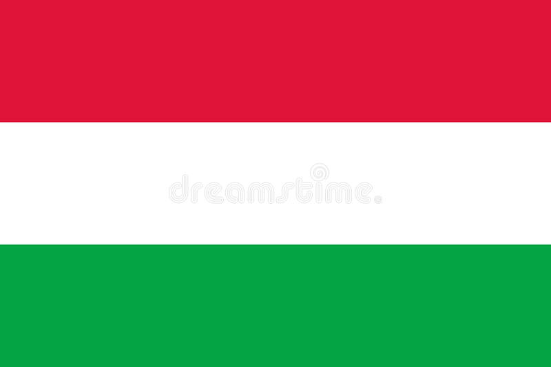 Waving flag of Hungary. Vector illustration of icon with red, white and green colors royalty free illustration
