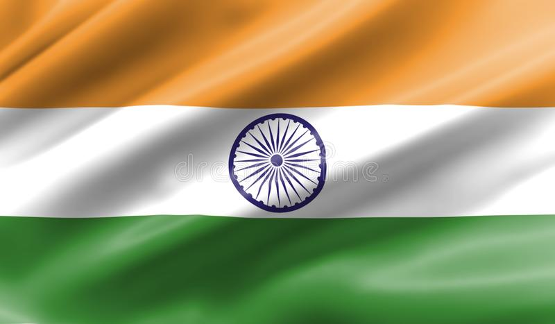 Waving flag of India vector illustration