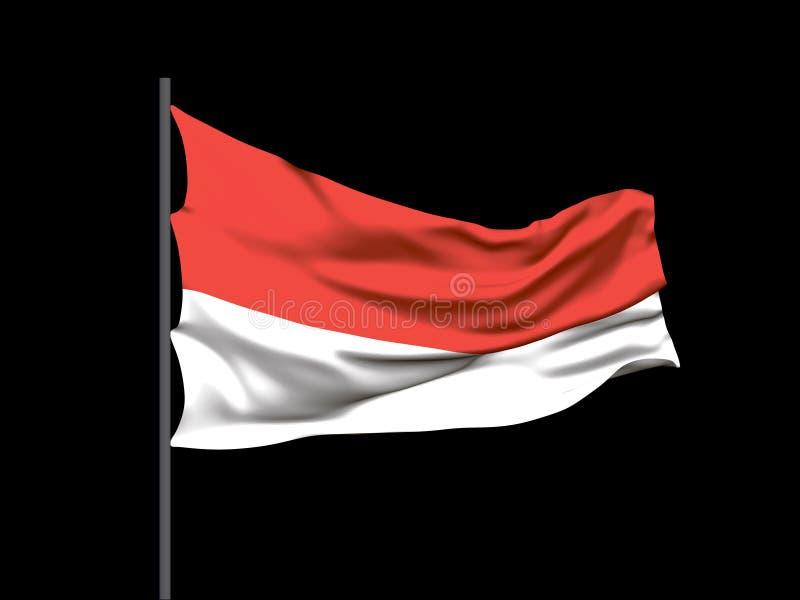 Waving flag of  Poland. Vector illustration vector illustration