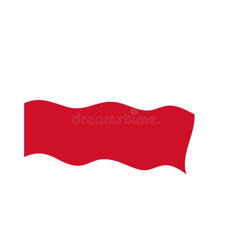 Waving flag of Poland stock illustration