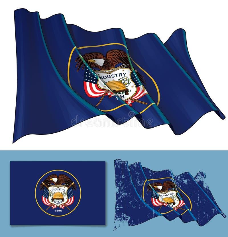 Waving Flag of the State of Utah vector illustration