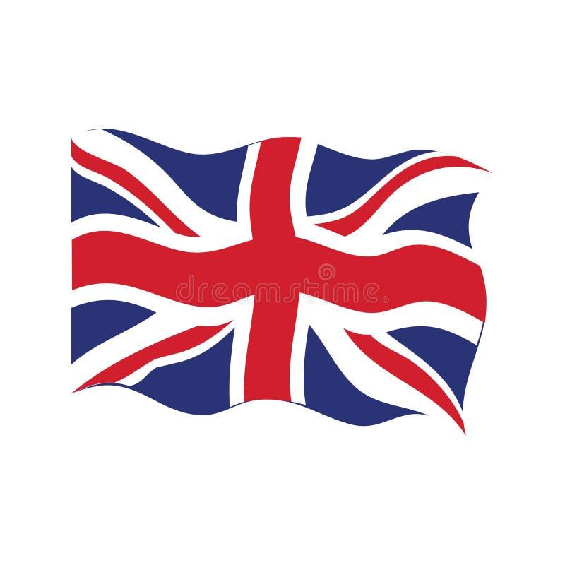 Waving flag of the United Kingdom. Vector illustration design royalty free illustration