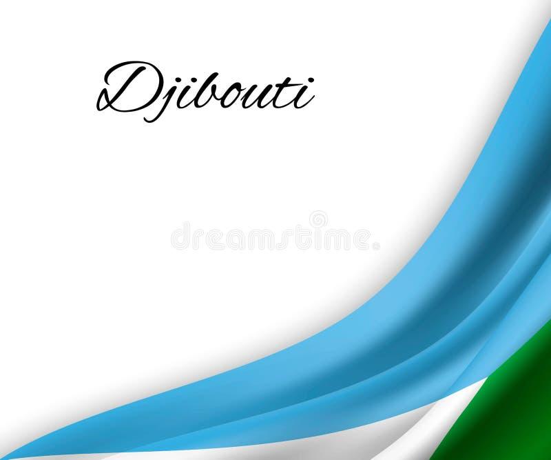 waving flag on white background royalty free illustration