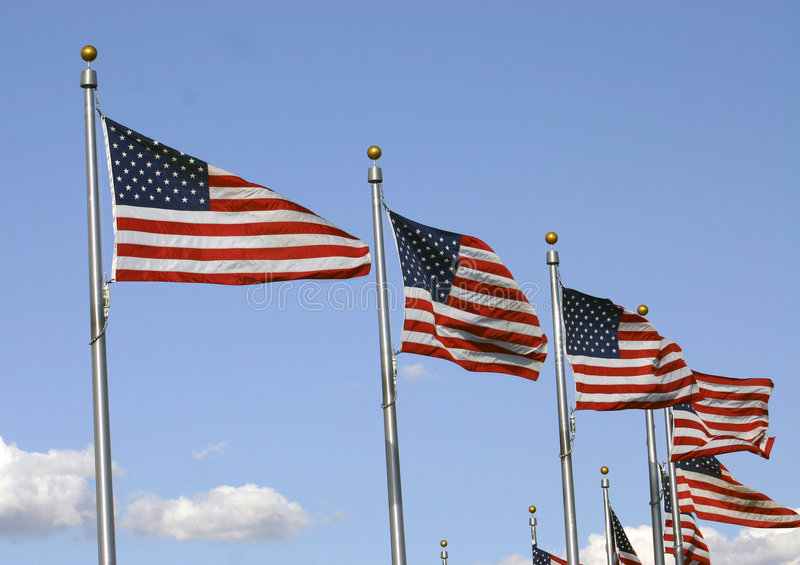 Waving Flags royalty free stock images
