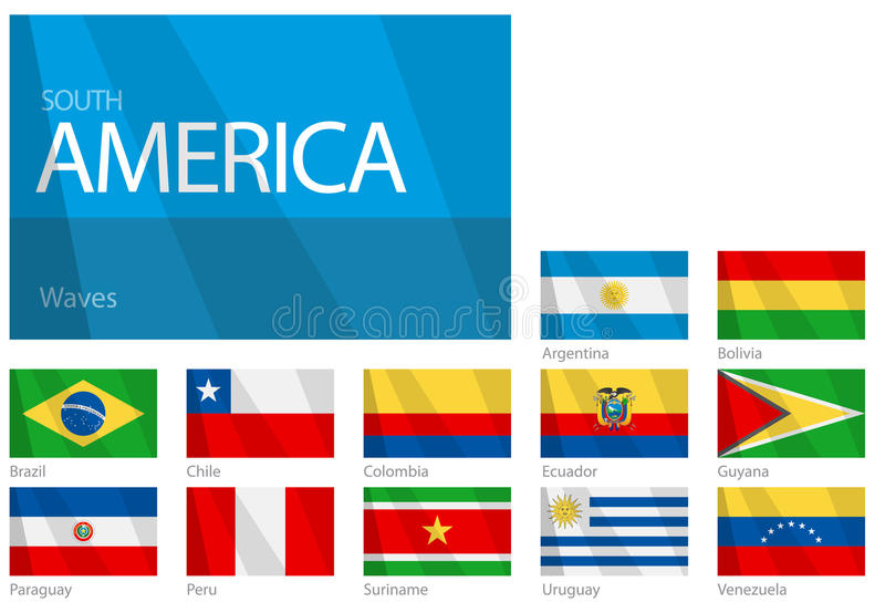Download Waving Flags Of South American Countries Stock Vector - Image: 10053068