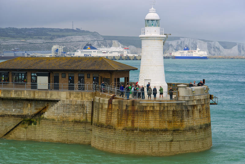 Waving Goodbye, Dover, Port, England stock image