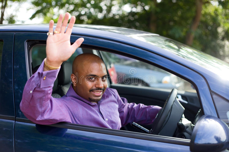 Waving goodbye royalty free stock images