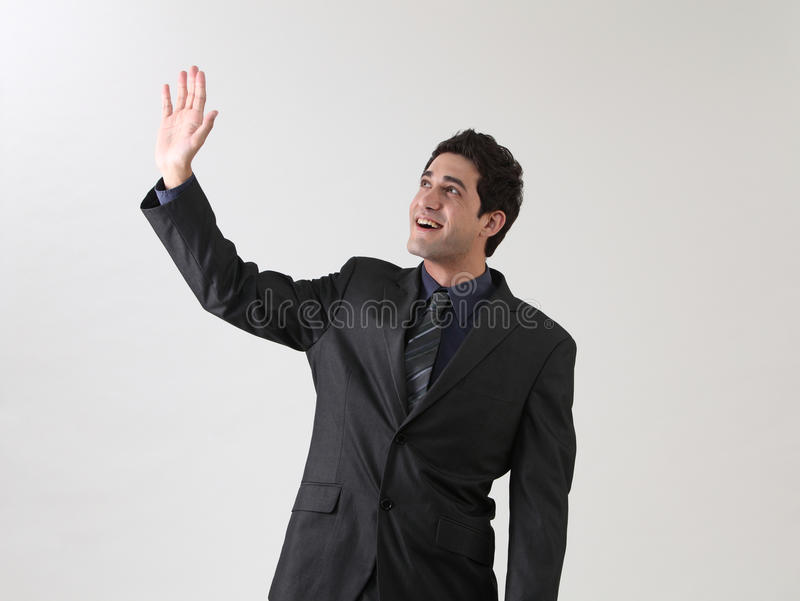 Waving hand royalty free stock photography