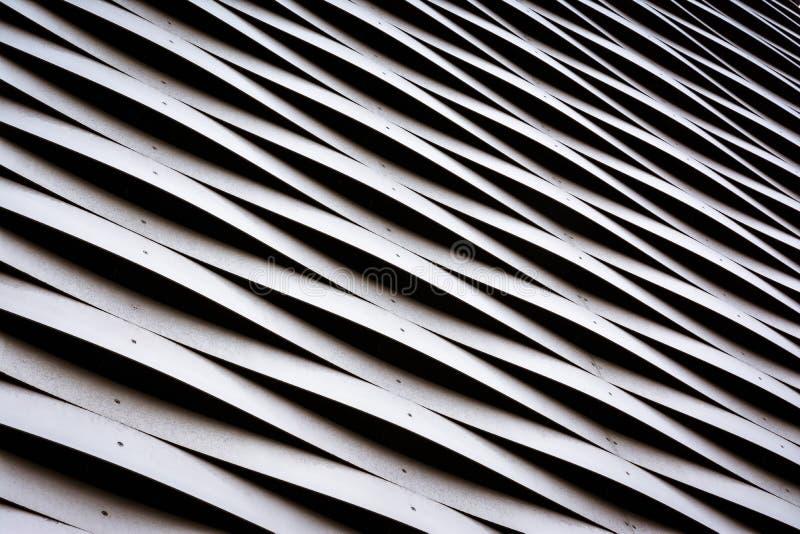 Waving Metal Architecture Pattern Texture Closeup Detail Aluminum Alternating stock photo