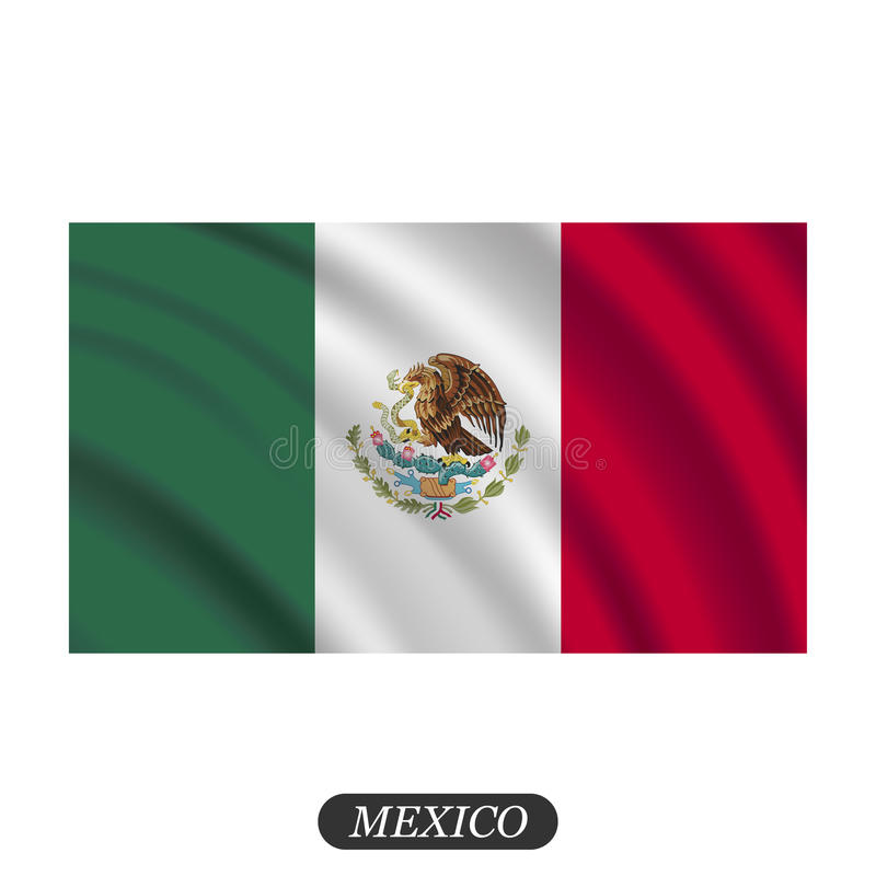 waving mexico flag on a white background vector illustration stock rh dreamstime com  waving american flag vector free