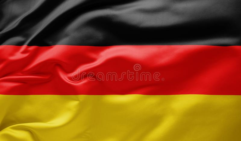 Waving national flag of Germany royalty free stock photography